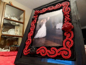 Beadwoven Picture Frame