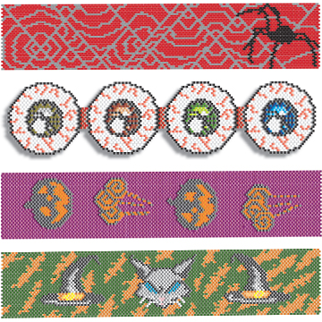 Halloween Bracelet Patterns Collection - $9.95