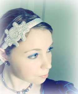 Ribbon Rhinestone Headband