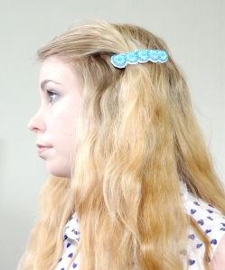 Barrette Hairstyle Side Clip