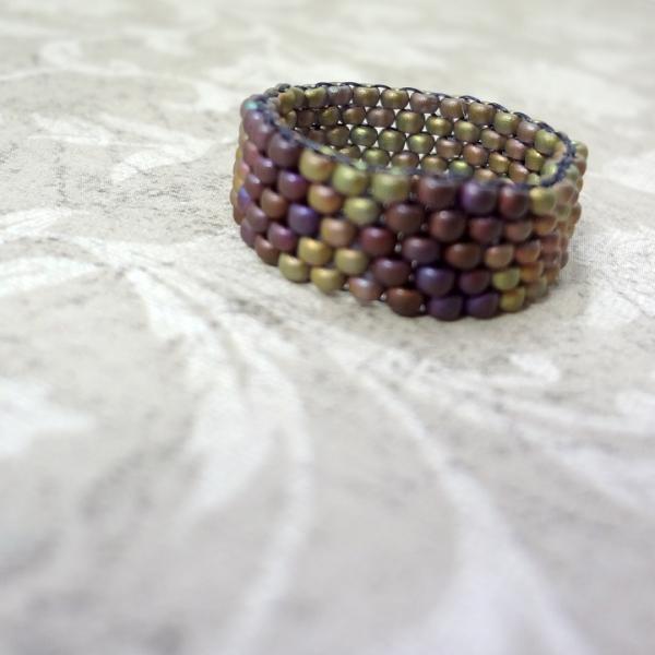 Beaded Chevron Ring