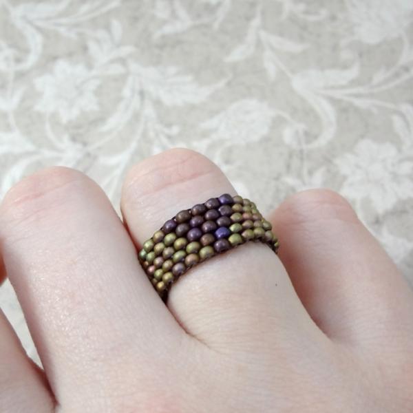 Beaded Triangle Ring