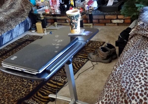 laptop desk in black