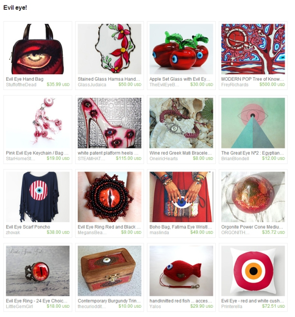 Red Evil Eye Collection