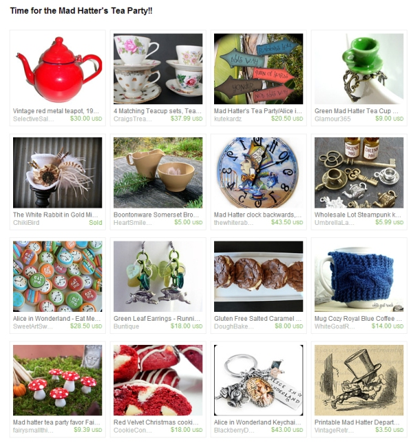 Tea Party Etsy Treasury