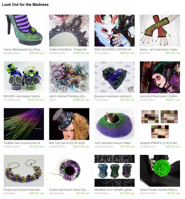 Look Out for the Madness Etsy Treasury