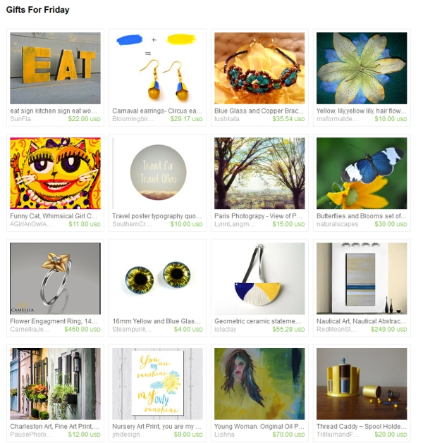 gifts for friday etsy treasury