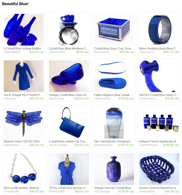 Blue Etsy Treasury