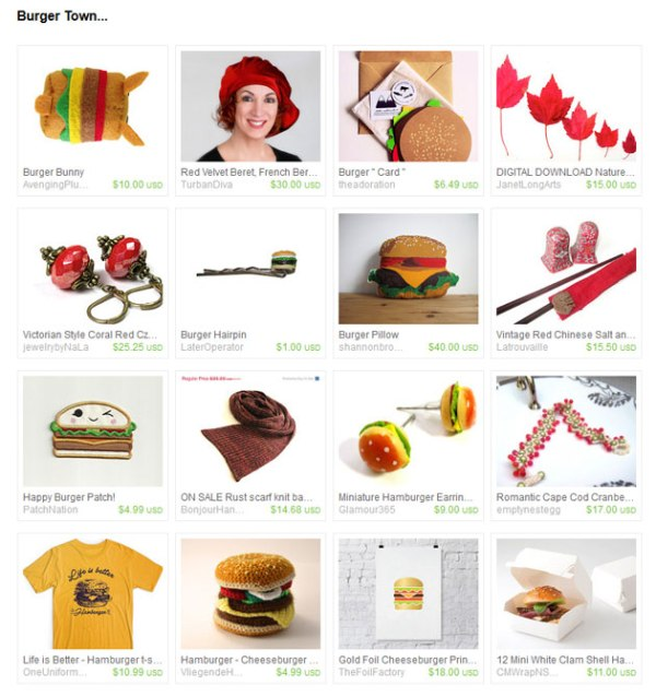 burger themed gifts