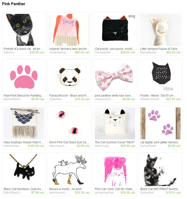 Pink Panther Etsy Treasury