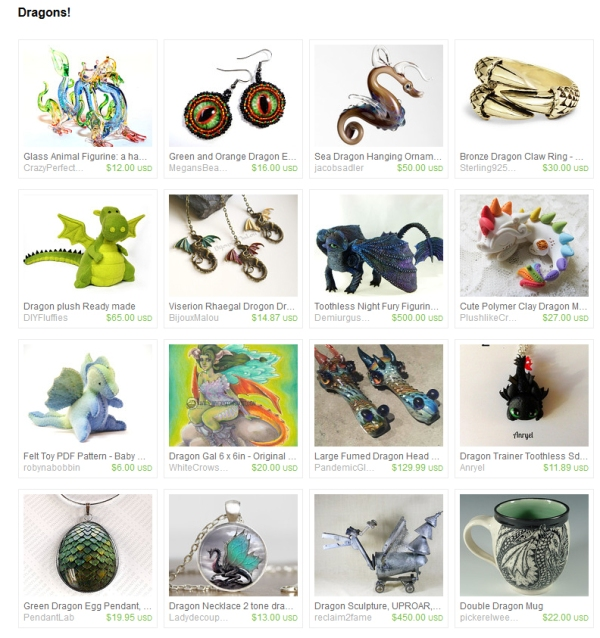 Dragon Finds on Etsy