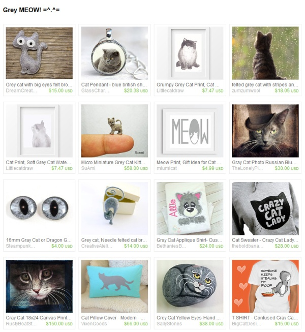 Grey Cat Items