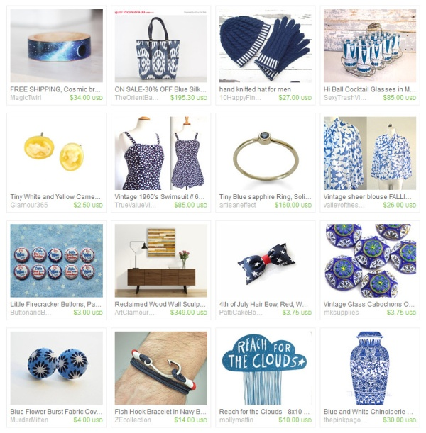 Spot of Yellow Etsy Treasury