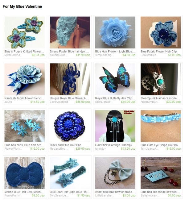 Etsy Treasury Blue Valentine Gifts