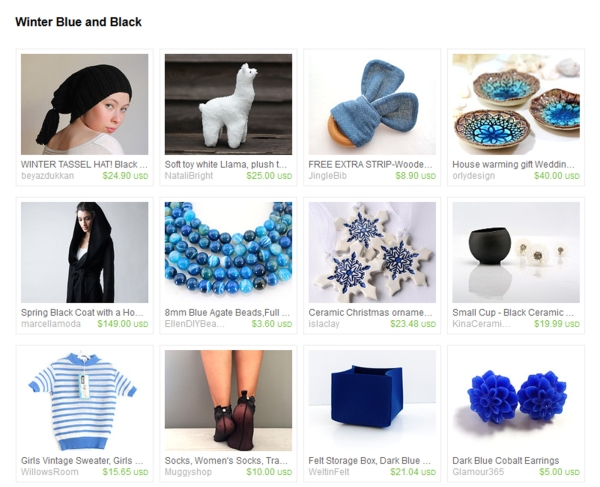 Winter Blue and Black